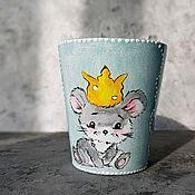 """Кружки ручной работы. Ярмарка Мастеров - ручная работа Кружка """"Мышонок с короной"""". Handmade."""