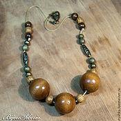 Работы для детей, handmade. Livemaster - original item Beads of wood