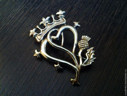 """Броши ручной работы. Ярмарка Мастеров - ручная работа. Купить Брошь """"Лакенбут"""" шотландская. Handmade. Серебряный, брошь цветок, лакенбут"""