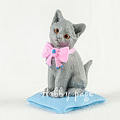 Материалы для творчества handmade. Livemaster - original item Silicone molds for soap Kitten with a bow on the pillow. Handmade.