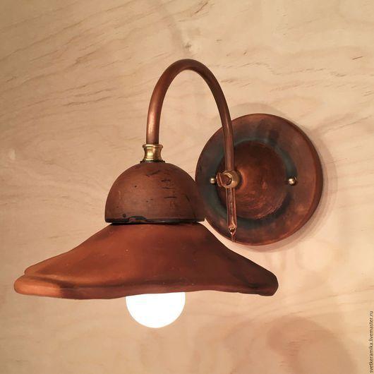 Освещение ручной работы. Ярмарка Мастеров - ручная работа. Купить Керамический светильник на стену «Спиральная фантазия №4». Handmade.