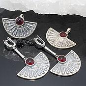 Украшения handmade. Livemaster - original item Zvart jewelry set with agates made of silver GA0053. Handmade.