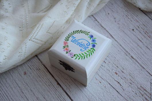 """Свадебные аксессуары ручной работы. Ярмарка Мастеров - ручная работа. Купить """"Flower Wed"""" - свадебная шкатулка для обручальныx колец. Handmade."""