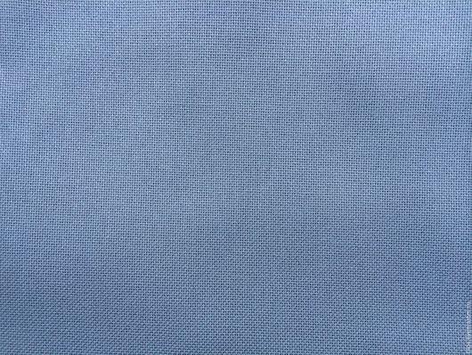 Вышивка ручной работы. Ярмарка Мастеров - ручная работа. Купить канва темно-голубая   для вышивания  Германия. Handmade. Ткань