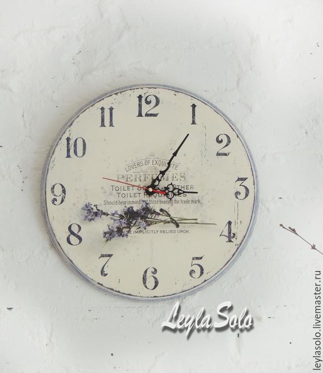 Декупаж часов с лавандой