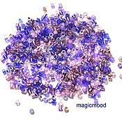 Материалы для творчества handmade. Livemaster - original item 5 g 11/0 Delica MIX 01 lilac Japanese seed beads Miyuki. Handmade.