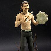 Куклы и игрушки ручной работы. Ярмарка Мастеров - ручная работа Фигурка портретного мужчины. Handmade.