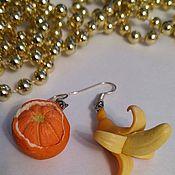 Серьги классические ручной работы. Ярмарка Мастеров - ручная работа Серьги классические: фруктовые, сладкие. Handmade.