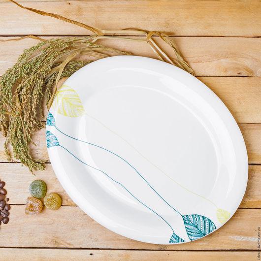 Блюдо из коллекции Шары. Фарфоровая посуда.