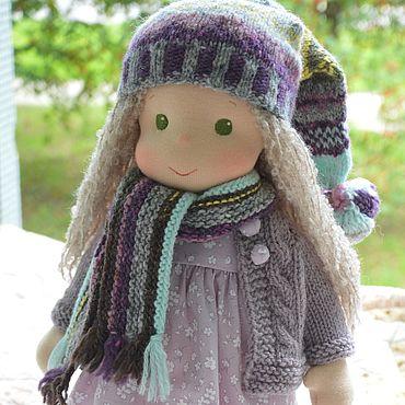 Куклы и игрушки ручной работы. Ярмарка Мастеров - ручная работа Вальдорфская кукла Нежная сирень. Handmade.
