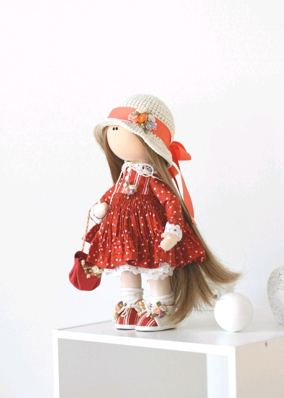 Тася интерьерная текстильная кукла, Большеножка, Новосибирск,  Фото №1