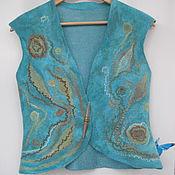 Одежда handmade. Livemaster - original item vest felted turquoise. Handmade.