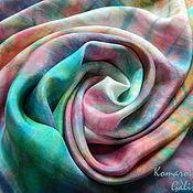 """Аксессуары ручной работы. Ярмарка Мастеров - ручная работа шелковый шарф """"Предчувствие весны"""". Handmade."""