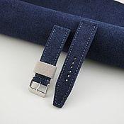 Украшения handmade. Livemaster - original item Сanvas watch strap. Handmade.