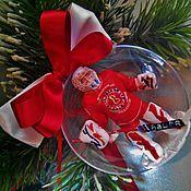 """Подарки к праздникам ручной работы. Ярмарка Мастеров - ручная работа Шар """"Вратарь-хоккеист"""". Handmade."""