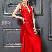 """Одежда ручной работы. Ярмарка Мастеров - ручная работа Роскошное красное платье до пола """"Алое"""". Handmade."""