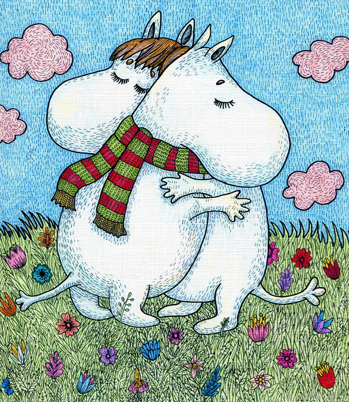 Print Moomin Painting for children on motives of Tove Jansson, Pictures, St. Petersburg,  Фото №1