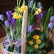 Цветы и флористика ручной работы. Ярмарка Мастеров - ручная работа Яркие краски весны. Handmade.