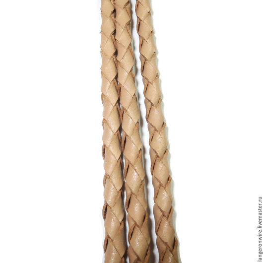 Для украшений ручной работы. Ярмарка Мастеров - ручная работа. Купить Шнур кожаный плетеный 3,0 мм. Цвет - кофейный. Handmade.