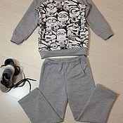 Работы для детей, ручной работы. Ярмарка Мастеров - ручная работа Трикотажный костюм Миньоны. Handmade.