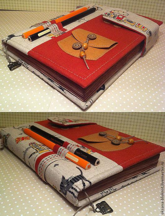 """Блокноты ручной работы. Ярмарка Мастеров - ручная работа. Купить Блокнот ручной работы """"Кот-путешественник"""" (формат А5). Handmade."""