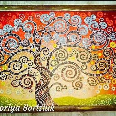 """Картины и панно ручной работы. Ярмарка Мастеров - ручная работа Точечная роспись """"Дерево Жизни"""". Handmade."""