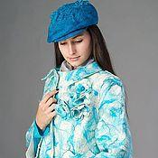 """Одежда ручной работы. Ярмарка Мастеров - ручная работа Валяное легкое пальто """"Бирюзовый меланж"""". Handmade."""