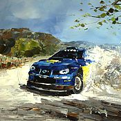 """Картина маслом """"Ралли. Subaru в дрифте"""" (Серия """"Гонки"""")"""