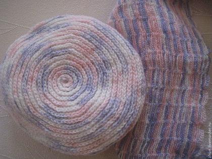 Головные уборы ручной работы. Ярмарка Мастеров - ручная работа Комплект шарф и берет. Handmade.
