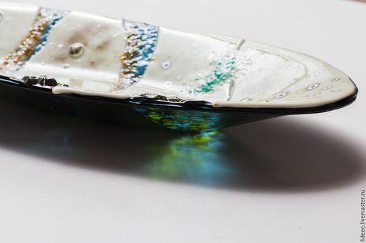 Тарелки ручной работы. Ярмарка Мастеров - ручная работа. Купить Тарелка из стекла - Пляж - фьюзинг. Handmade. Бежевый, пляж, фьюзинг