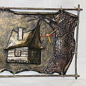 """Для дома и интерьера ручной работы. Ярмарка Мастеров - ручная работа Часы """"Домик в лесу"""". Handmade."""