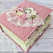Канцелярские товары ручной работы. Ярмарка Мастеров - ручная работа Фотоальбом цветочный для мамы. Handmade.