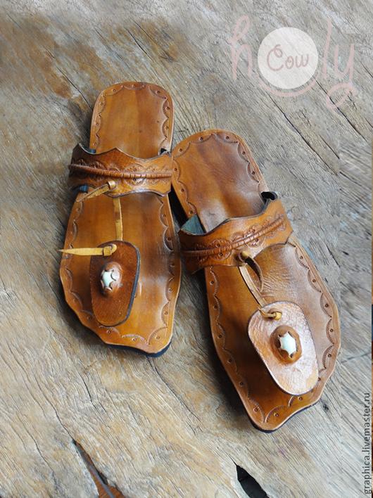 """Обувь ручной работы. Ярмарка Мастеров - ручная работа. Купить Оригинальные кожаные сандалии """"Asian Beauty"""". Handmade. Коричневый"""