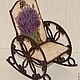 Кукольный дом ручной работы. Ярмарка Мастеров - ручная работа. Купить Кресло-качалка Лаванда. Handmade. КРЕСЛО-КАЧАЛКА