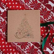 """Сувениры и подарки ручной работы. Ярмарка Мастеров - ручная работа Футляр для CD/DVD диска """"Новогодний"""". Handmade."""