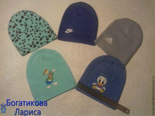 Для новорожденных, ручной работы. Ярмарка Мастеров - ручная работа. Купить Двойные шапочки для новорожденных. Handmade. Комбинированный, шапочка детская