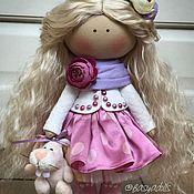 Куклы и игрушки ручной работы. Ярмарка Мастеров - ручная работа Кудряшка в шёлковой юбке. Handmade.