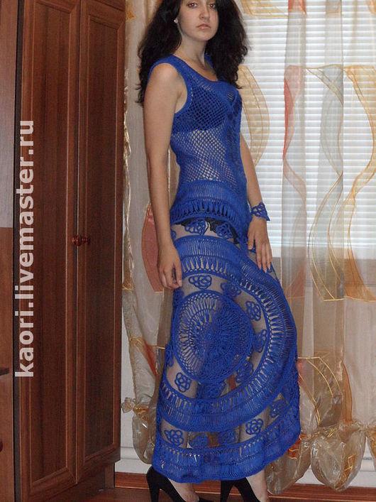 Платья ручной работы. Ярмарка Мастеров - ручная работа. Купить Платье BLUE SILK. Handmade. Авторская работа, шелк