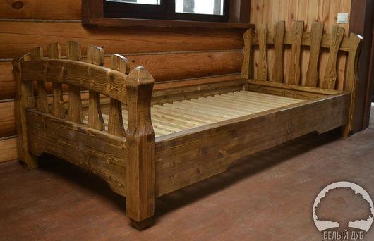 Мебель ручной работы. Ярмарка Мастеров - ручная работа. Купить Кровать одноместная. Handmade. Мебель под старину, мебель из сосны