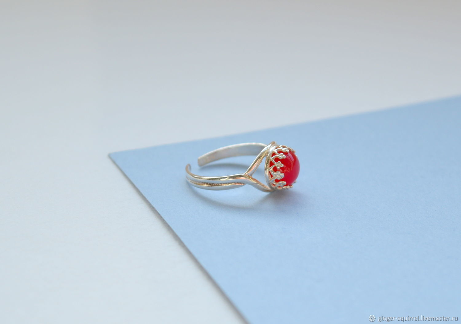 Silver ring with ruby chalcedony, Rings, St. Petersburg,  Фото №1