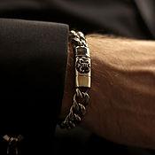 Украшения handmade. Livemaster - original item Steel bracelet with royal lily unisex. Handmade.