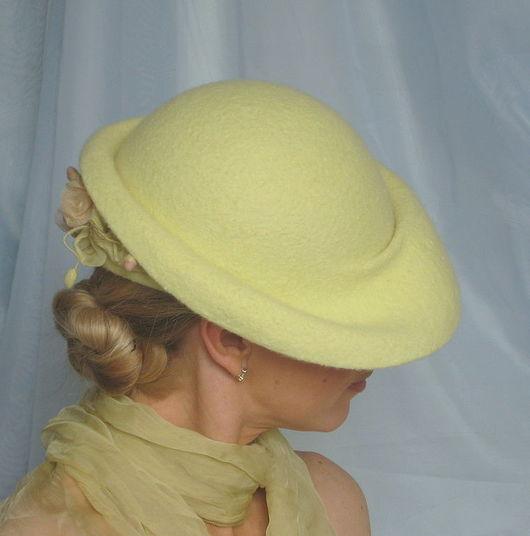 """Шляпы ручной работы. Ярмарка Мастеров - ручная работа. Купить Дамская шляпка """"Аромат весеннего утра"""". Handmade. Валяная шляпа"""