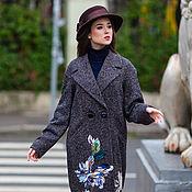 Одежда ручной работы. Ярмарка Мастеров - ручная работа Пальто осеннее из твида Флоренция. Handmade.