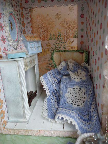 """Кукольный дом ручной работы. Ярмарка Мастеров - ручная работа. Купить Вязаный комплект """"Снежинка"""" в кукольный дом. Handmade. Белый"""