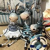 Куклы и игрушки ручной работы. Ярмарка Мастеров - ручная работа Ослики на отдыхе). Handmade.