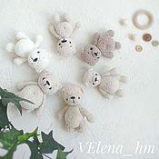 Мягкие игрушки ручной работы. Ярмарка Мастеров - ручная работа Игрушки: плюшевые мягкие вязаные мишки 9 -10 см. Handmade.