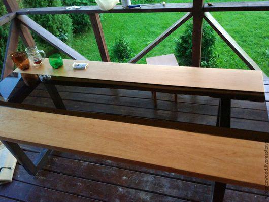 Мебель ручной работы. Ярмарка Мастеров - ручная работа. Купить Стол со стеклянной вставкой. Handmade. Рыжий, модерн, экостиль