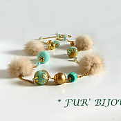 Украшения handmade. Livemaster - original item Beads long. Necklace. Beige mink. Handmade.