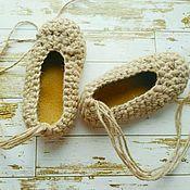 Обувь детская ручной работы. Ярмарка Мастеров - ручная работа Лапти - чешки для танцев на подошве :) НОВИНКА. Handmade.
