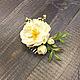 Свадебные украшения ручной работы. Цветы для прически  из полимерной глины. Юлия Шепелева Lovely Flowers Lab. Ярмарка Мастеров. Пион